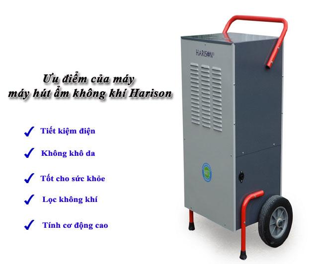 Thiết bị hút ẩm Harison được tin dùng vì có nhiều ưu điểm vượt trội