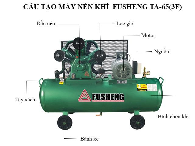 Cấu tạo máy nén hơi Fusheng TA-65