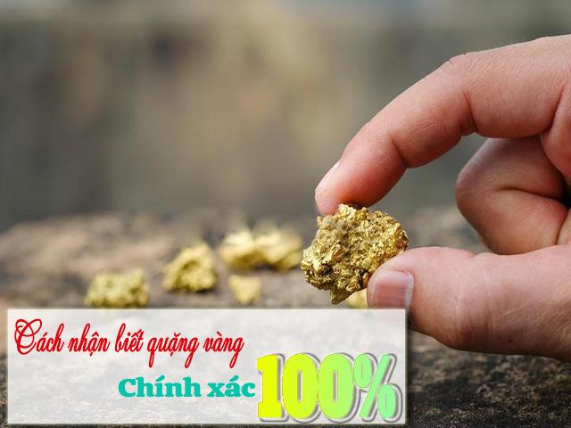 Cách nhận biết quặng vàng