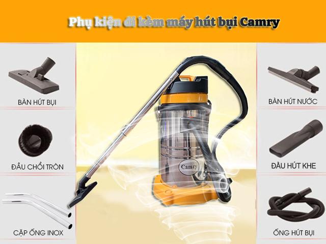 Các thiết bị hút bụi của Camry có đầy đủ phụ kiện