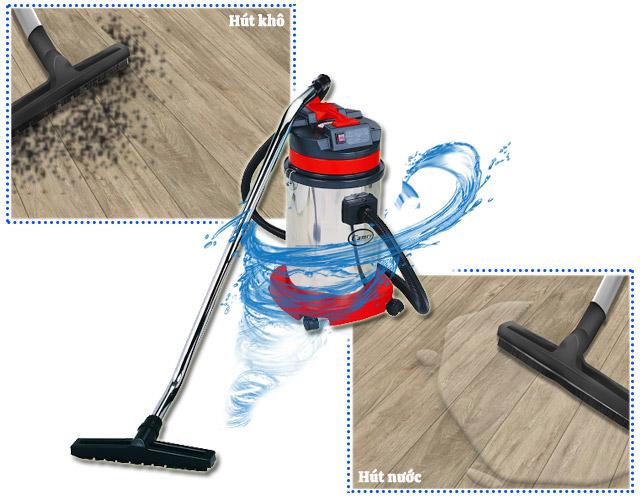 Các model máy hút bụi Camry đều được trang bị khả năng hút khô và hút nước hiệu quả