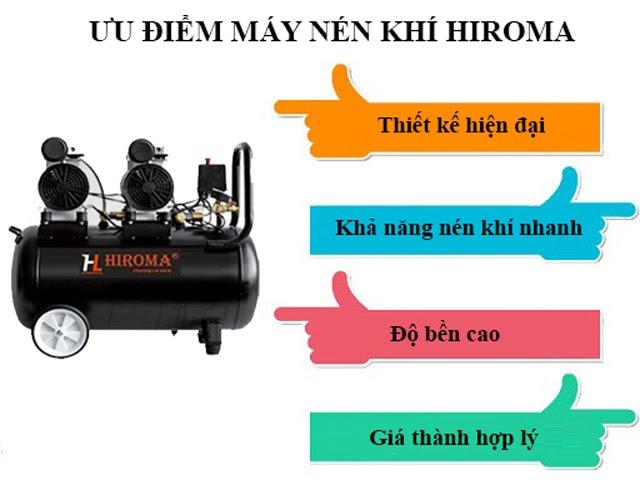 Ưu điểm nổi trội của máy khí nén thương hiệu Hiroma