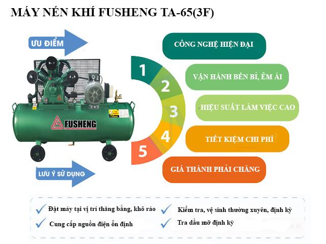 Tính năng nổi trội của model khí nén Fusheng TA-65