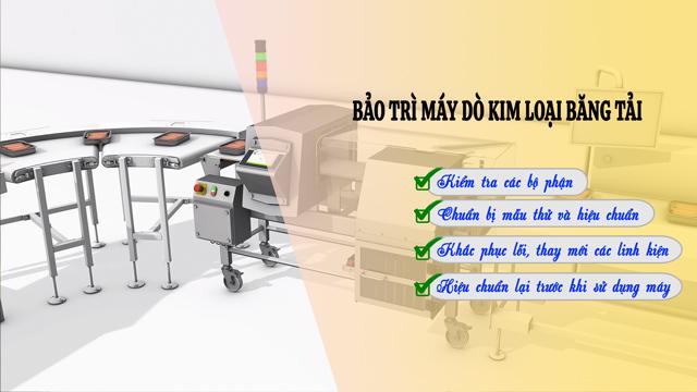 Các bước bảo trì máy dò kim loại