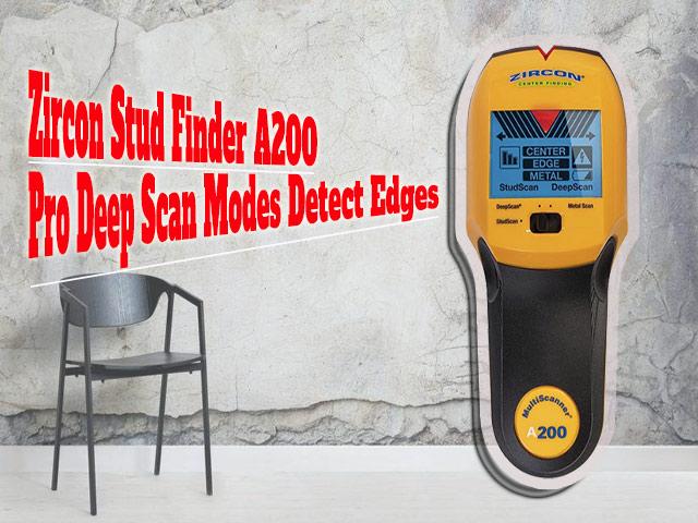 Máy máy dò dây điện âm tường giá rẻ Zircon Stud Finder A200 Pro Deep Scan Modes Detect Edges