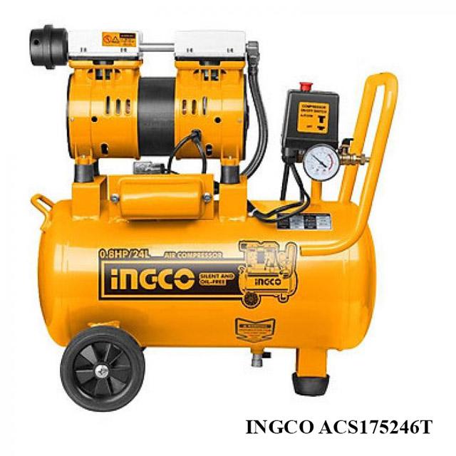 Model nén khí không dầu Ingco ACS175246T 24L