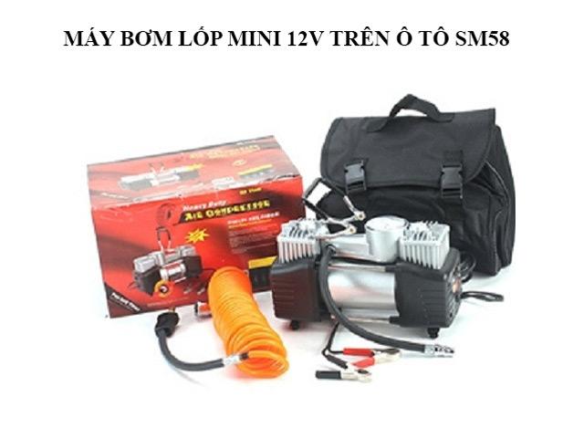 Model nén khí SM58 được sử dụng phổ biến để bơm lốp xe cho ô tô