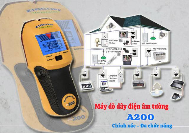 Máy máy dò dây điện âm tường giá rẻ Zircon Stud Finder A200