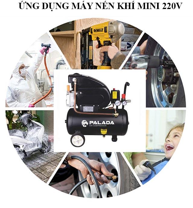 Thiết bị nén hơi mini 220V được ứng dụng trong nhiều công việc khác nhau