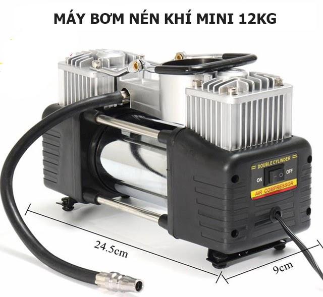 Máy khí nén mini 12V - Thiết kế nhỏ gọn, tiện lợi