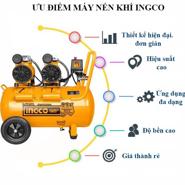 Máy nén hơi Ingco sở hữu nhiều đặc điểm và tính năng vượt trội