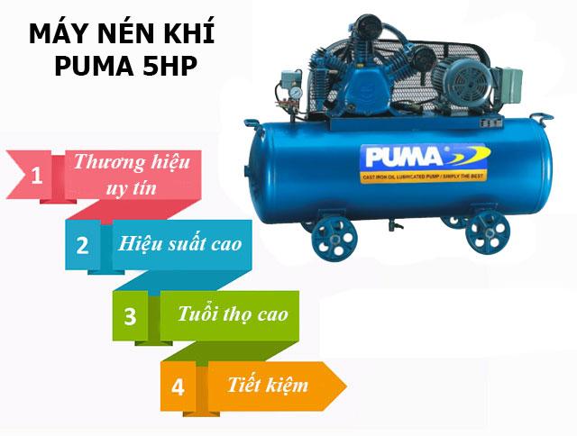 Máy nén khí Puma 5HP có điểm gì nổi trội?